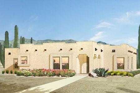 Southwest adobe for Adobe style modular homes