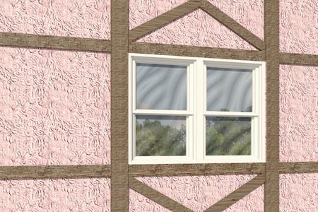 Half Timber And Stucco On Frame