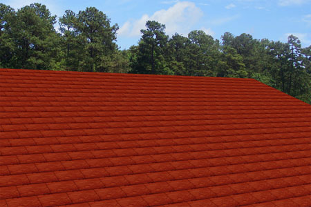 Shingles slate red for Fiber cement composite roofing slate style
